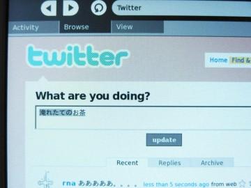 Browser のフォーム上で SCIM-ANTHY で日本語入力。