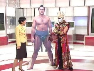 『クローズアップ現代』2005年11月9日放送。国谷アナとデーモン小暮。