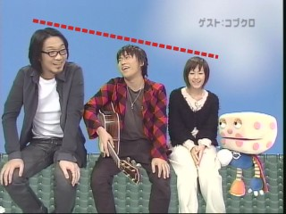 右から黒田、小渕、カエラ(点線はrnaが追加)